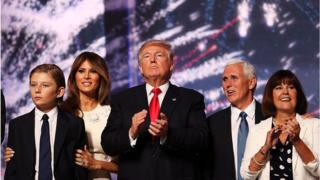 Trump, Pence, family at 2016 convention