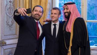 ماكرون توقف في السعودية ودعا الحريري لزيارة فرنسا
