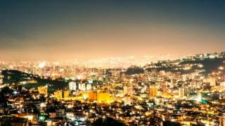 A view of Caracas at night time