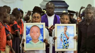 in_pictures The funeral service for Barthelemy Laurent Guibahi Ani in Abidjan, Ivory Coast - Friday 28 February 2020