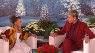Nandi Bushell talking Ellen DeGeneres
