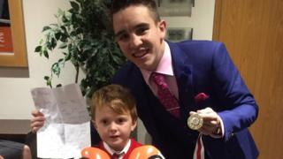 Michael Conlan with Finn McManus