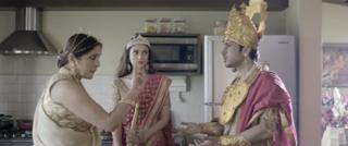 Kunti, Draupadi and Arjun