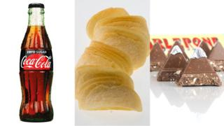 Coca-Cola, Pringles and Toblerone