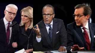 Anderson Cooper, Martha Raddatz, Lester Holt, Chris Wallace