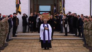 War veteran's funeral, Isle of Man