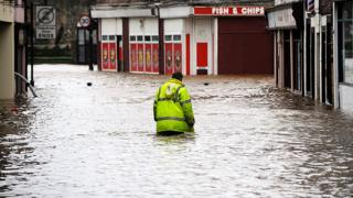 Man in floods