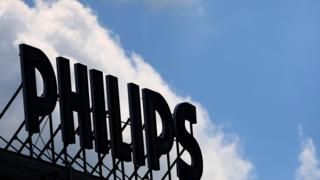 Philips logo at a factory for halogen lamps in Aachen, Germany