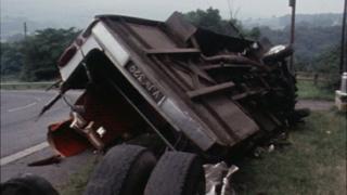 BBC footage of the crash