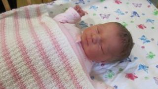Abandoned baby, named by hospital staff as April