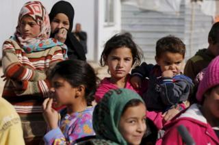 Ürdün'deki mülteci kampındaki çocuklar