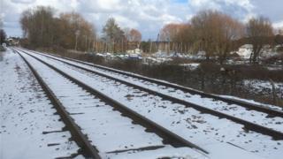 Train lines at Woodbridge