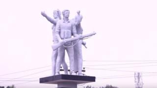 কিশোরগঞ্জের তারাইল উপজেলায় মুক্তিযুদ্ধের ভাস্কর্য 'স্বাধীনতা ৭১