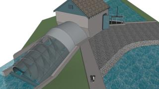 Illustration of the planned hydro scheme