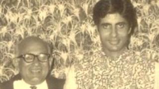 ख़्वाजा अहमद अब्बास के साथ अमिताभ बच्चन