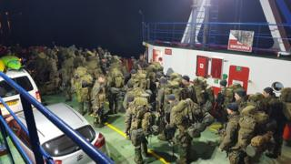 Soldiers on the Corran Ferry