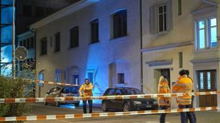 Полиция около исламского центра в Цюрихе