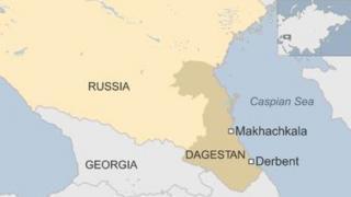 Dagestan map