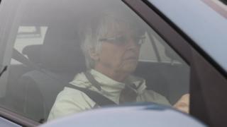 Jackie in car