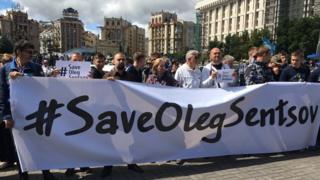 Акція по Сенцову в Києві