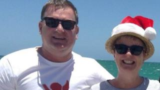 Bill Harrop and his partner Sally Bradley