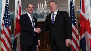 Dominic Raab and Mike Pompeo