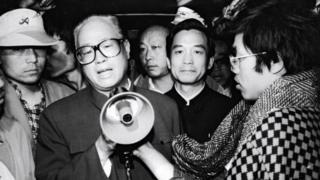 Ông Triệu Tử Dương nói với sinh viên tại Bắc Kinh tháng 5/1989