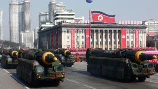 북한 열병식