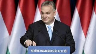 Hungarian Prime Minister Viktor Orban delivers his annual State of the nation speech in Budapest, Hungary, 10 February 2019