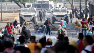 Manifestaciones en Venezuela el 1 de mayo.