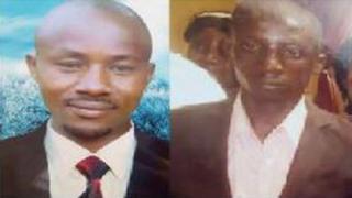 Bosco Tuheirwe (ibumoso) na Job Ebyarishanga barashwe barapfa