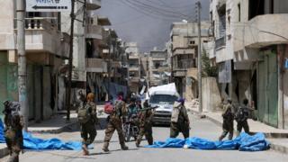 Menbic'deki Suriye Demokratik Güçleri
