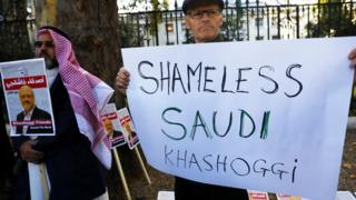 مظاهرة مناهضة للسعودية بسبب قضية خاشقجي