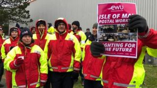Isle of Man postal strike, Douglas