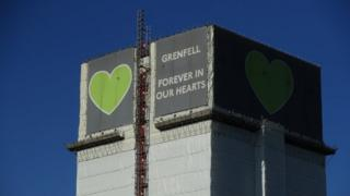 Grenfell Tower, pictured in April 2020