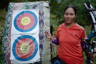 Dorji Dema at her practising range