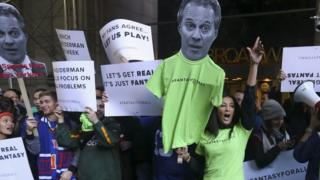 Protest over legal action against fantasy sports firms in New York