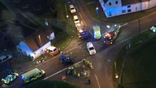Accident scene from the air
