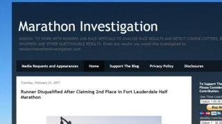 Screengrab of the Marathon Investigation site