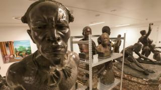 statues in Belgium's Royal Museum for Central Africa