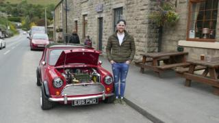 Tom with his modified 1987 Mini Mayfair.