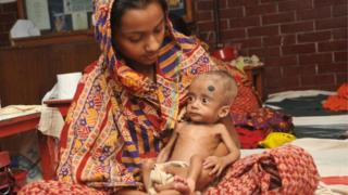 Bangladeshi mother and child