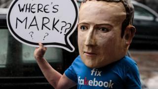 Protesto contra Facebook