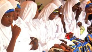 Brides at a mass wedding held in Kano, Nigeria