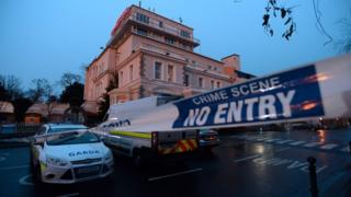 A police cordon at Dublin's Regency Hotel in February 2016 after a man was shot dead at a boxing weigh-in