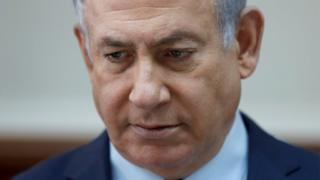 """Israeli Prime Minister Benjamin Netanyahu attends the weekly cabinet meeting at the Prime Minister""""s office in Jerusalem January 7, 2018."""