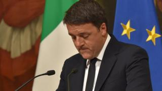 İstifasını açıklayan İtalya Başbakanı Matteo Renzi