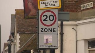 Rottingdean 20mph sign
