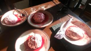 Freyia, Rose and Phoebe's brain cakes