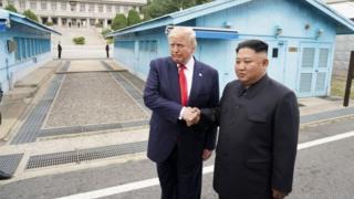 Trump and Kim at DMZ